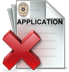 police officer application mistakes